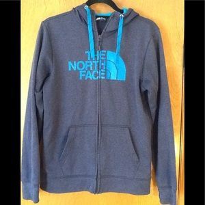 North face men's zippered hoodie. Size S gray